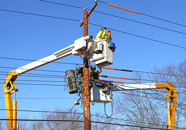 utility pole setting